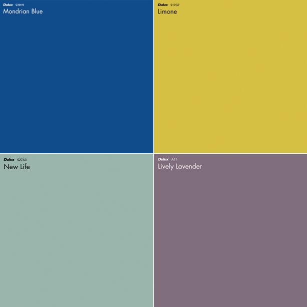 Dulux colour palette
