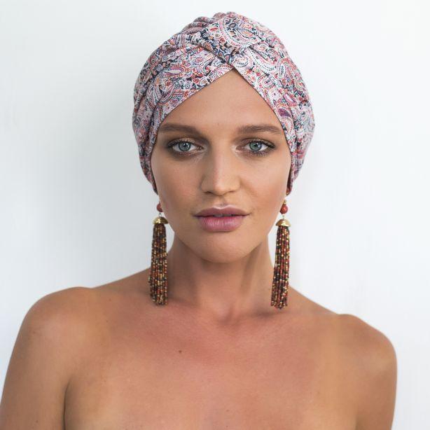 Louvelle turban shower cap