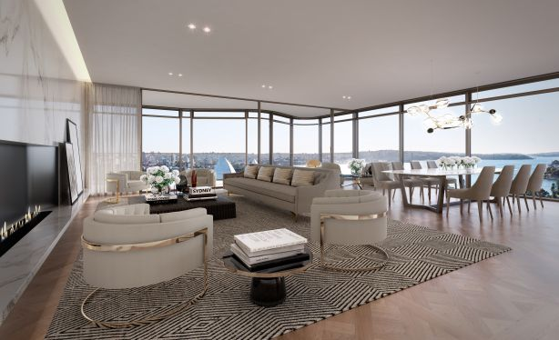 CGI of Opera Residences penthouse sold $27 million in March 2017.