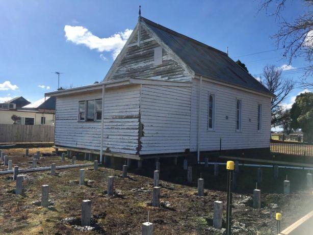 The pre renovation church. Artist Ken Roberts' Church turned home studio. Photo: Supplied.