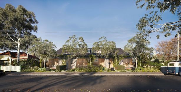 Taylor Knight architects' Northcote Terraces, for a story by Jenny Brown on improving medium density development.