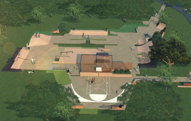 The proposed location for the skate park has been moved to reduce the impact on the harbourside park.