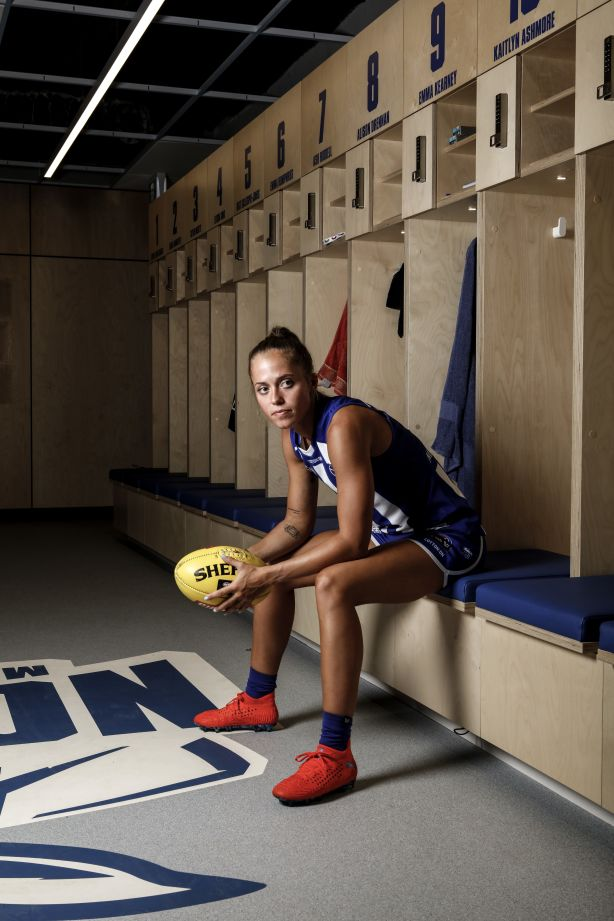 Kaitlyn Ashmore of North Melbourne Women's Football Club. Photo: Julian Kingma.