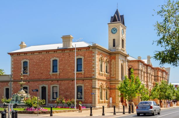 The town of Mount Gambier SA