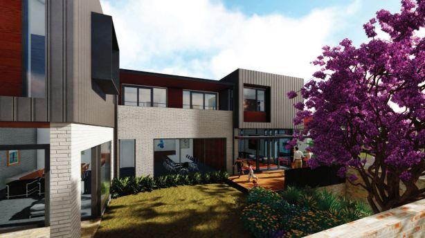 CGI of the Anglican Archbishop residence at 22 Catherine Street Glebe