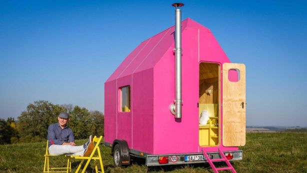The Magenta tiny house by Pin-Up Houses is designed to provide basic living facilities so owners can live 'debt and mortgage free'. Photo: Pin-Up Houses
