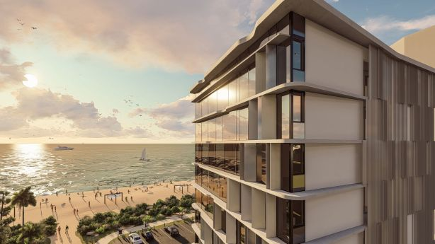 An artist's impression of the proposed complex for 2 First Avenue, Broadbeach.