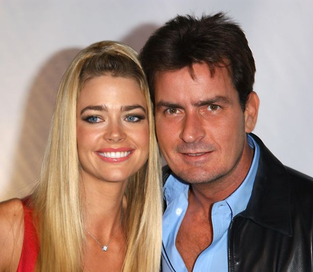 Denise Richards and ex-husband Charlie Sheen. Photo: Paul Skipper.