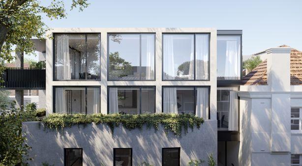 The Botanic Collection. Garden Lane, 216-218 Domain Road, South Yarra Architect: Rob Mills Architects and Powell & Glenn.  Developer: Sadikay Group
