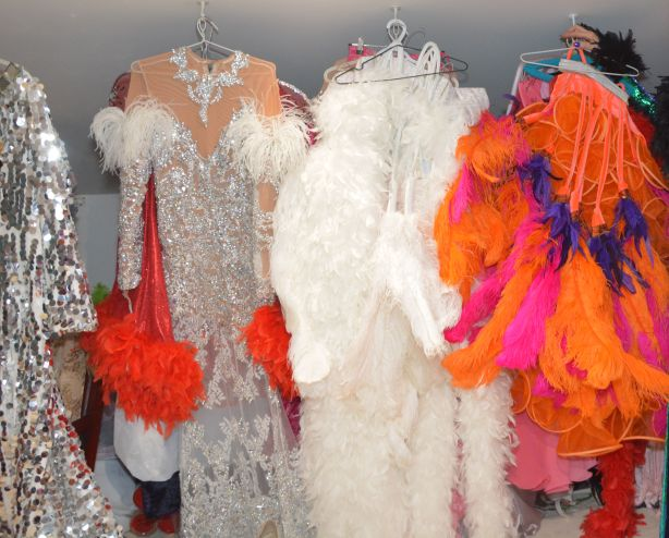 There are nearly 900 costumes in Rogers' collection.