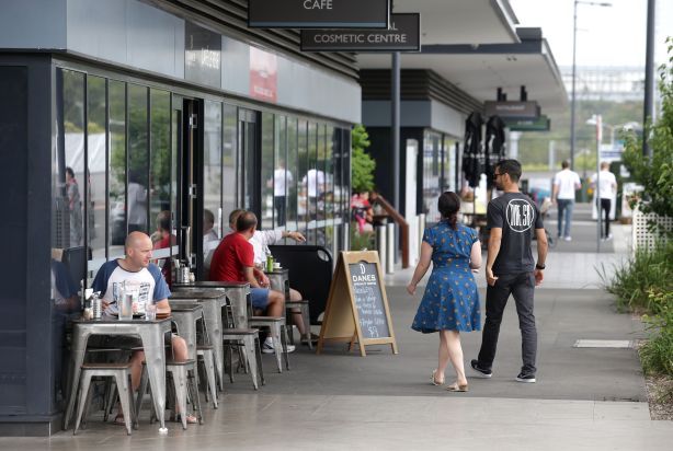 A cafe strip in Wolli Creek