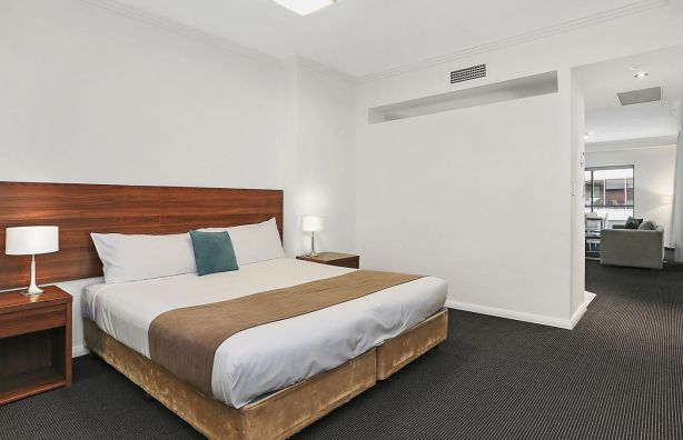 Some studios have a wall or partition separating the bedroom and living space.