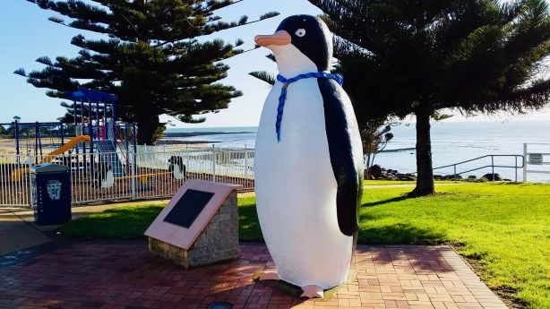 The Big Penguin in Penguin, Tasmania.