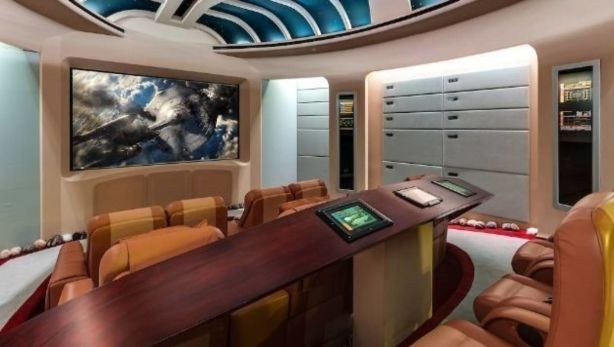 Producer Marc Bell's 11-seater Star Trek themed screening room.