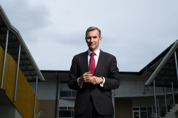 NSW Education Minister, Rob Stokes, at North Kellyville Public School, in Sydney. 5th December 2018 Photo: Janie Barrett