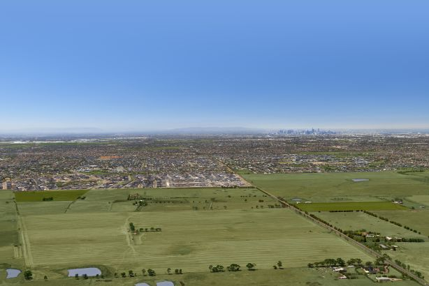 An aerial shot of Plumpton