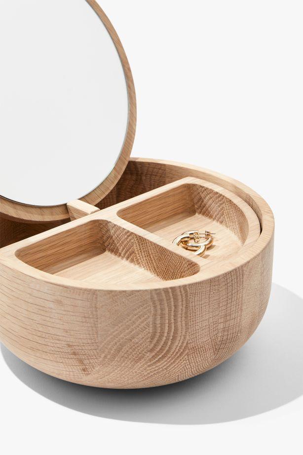 County Road's Sage natural wood jewellery box