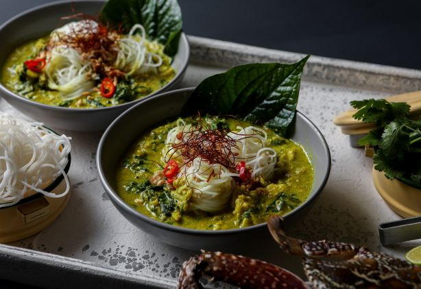 Diana Chan's Thai yellow crab curry with vermicelli noodles
