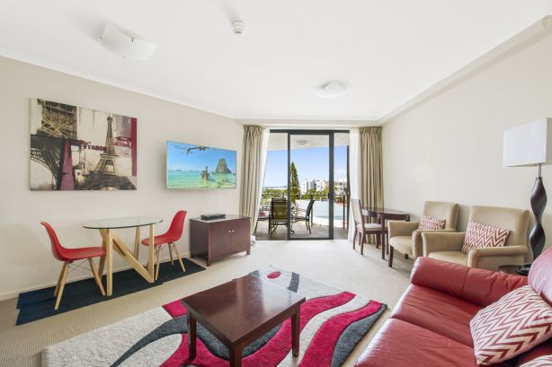 A one-bedroom apartment at 311/115 Bulcock Street, Caloundra, is on the market for $285,000.