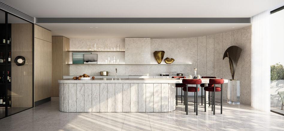Rondure House, Above Zero_Penthouse kitchen