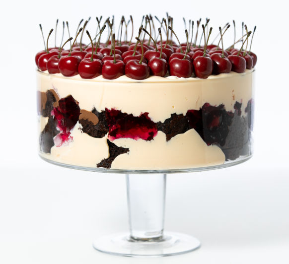 Peter Rowland's black forest trifle with fresh berries