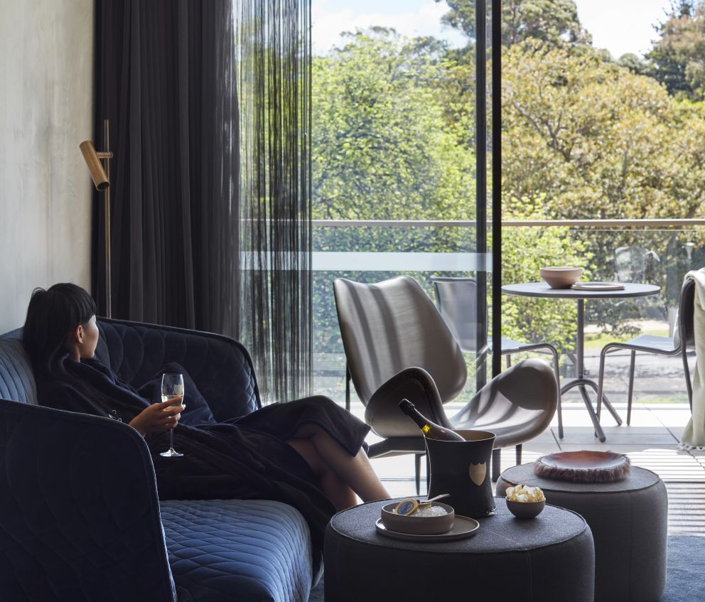 The United Places 'Dom Pérignon Suite' set in the Garden Penthouse overlooking the Royal Botanic Gardens.