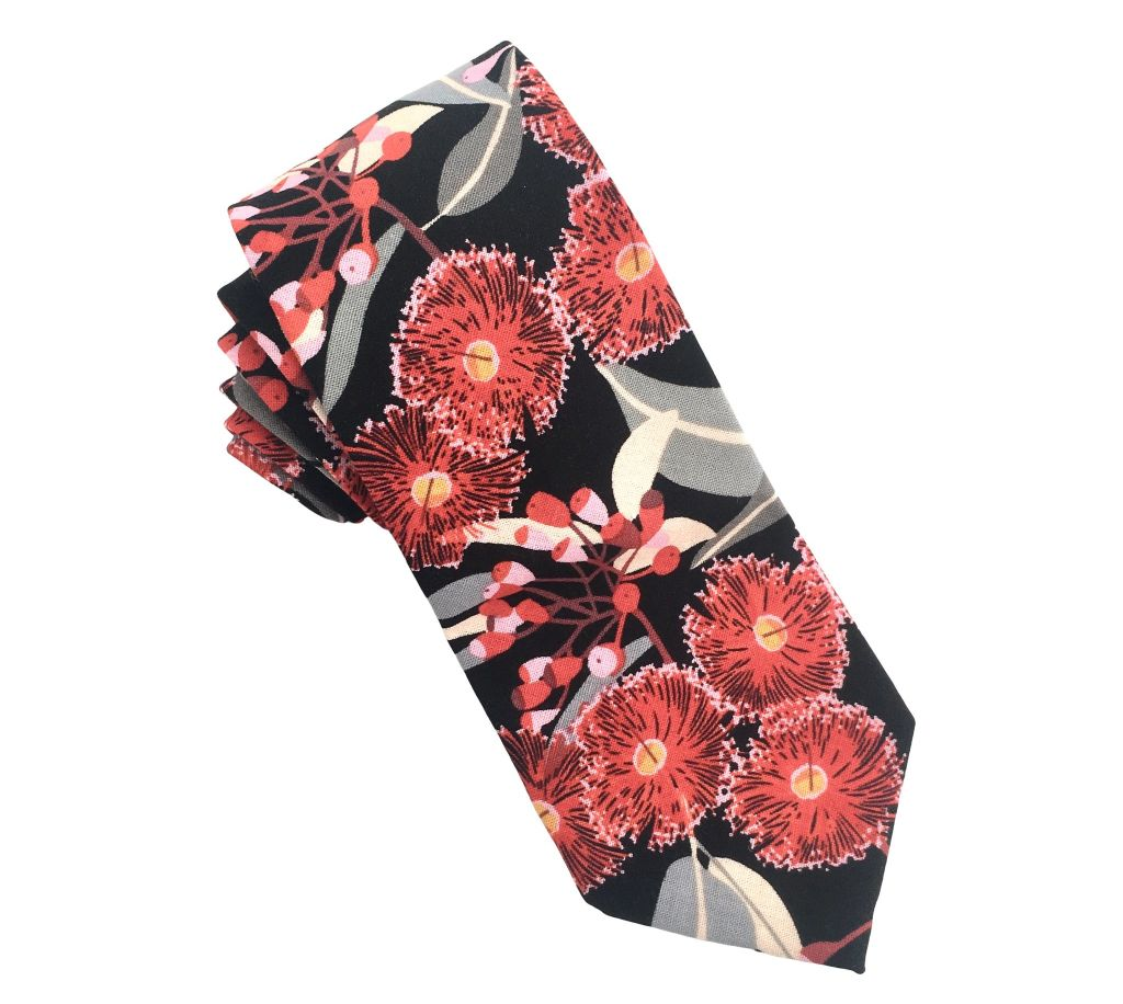 Tie_in_Red_Eucalyptus_Blossom_from_Dressed_for_Sunday_jdisi4
