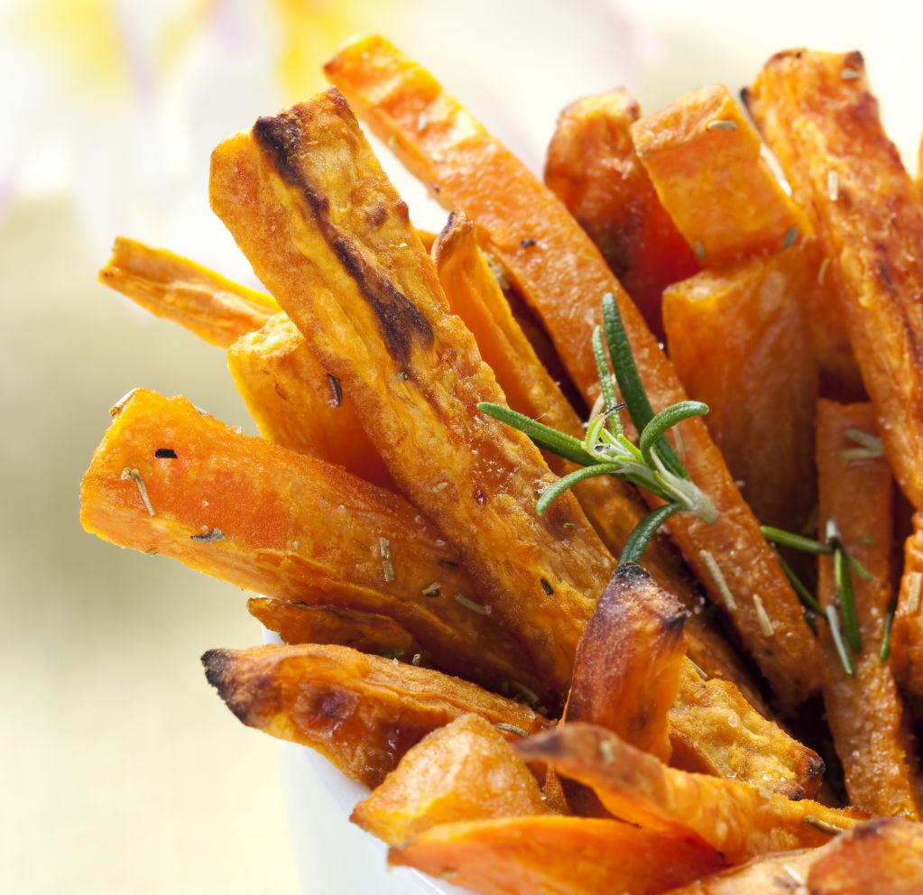 Sweet Potato Fries with Herbs.