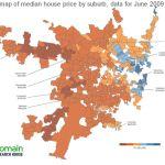Map 2 - Sydney MILLION price map - June 2009
