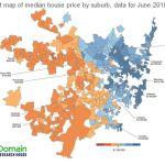 Map 1 - Sydney median price map - June 2019