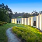 House or art gallery? The sleek structure just 20 minutes from the city