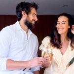 Megan Gale and fiance Shaun Hampson snap up weekender