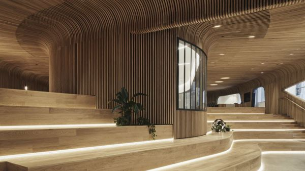 Gravity-bending timber designs show what is around the corner