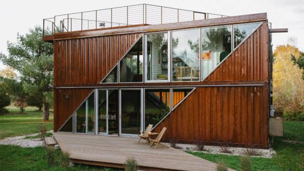 How a stylish house was created from six shipping containers