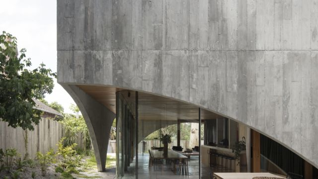 Inside an award-winning home that looks like a concrete bunker