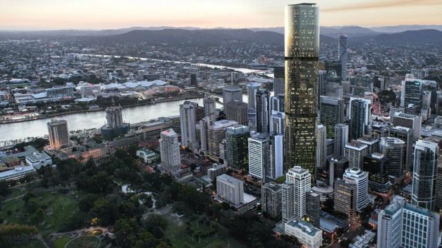 Dizzying heights: Top nine levels in Brisbane's tallest building up for sale