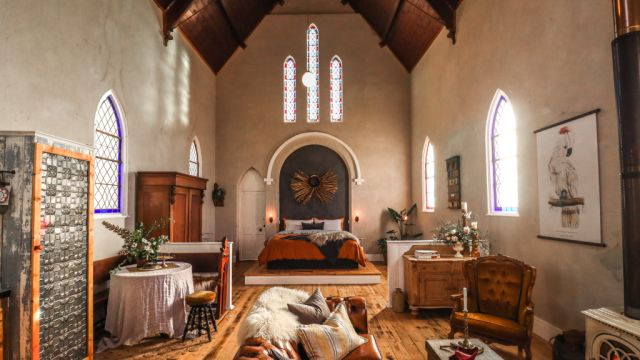 Behind the doors of a church converted into a luxe staycation