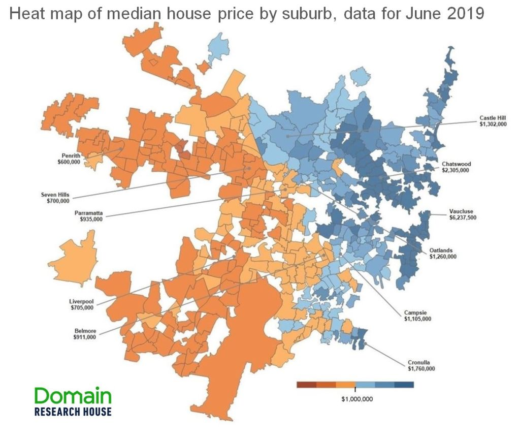 Mapping The Market Which Sydney Suburbs Fall Above Or Below