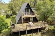 'One-of-a-kind design': Inside a quirky triangle shaped house that's for sale