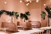 Pastel pink and terrazzo touches: fun is at the forefront of these designs