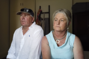 Tearful Melbourne auction provides needed funds for these farmer's new life