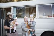 Lee lived on a bus as a kid. Now he's converting one for his young daughters