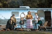 This family of six lives in a vintage Airstream next to their house