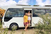 This couple converted a $15,000 bus into their first home