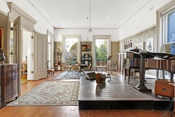 Inside the historic mansion with its own stage, once graced by Anna Pavlova