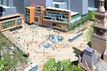 Decades-old plan for Sydney town square one step closer to reality