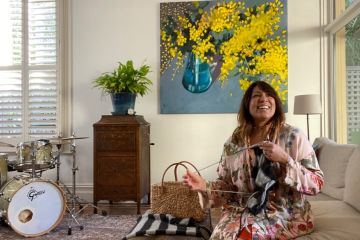 'I couldn't just sit there and do nothing': Being home-bound hasn't slowed down Kate Ceberano