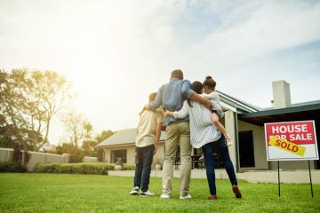 Who inherits the home in a blended family?
