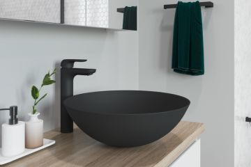 How to perfect the black bathroom trend