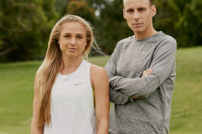 Melbourne runners Gen LaCaze and Ryan Gregson make the most of the Tokyo Games delay